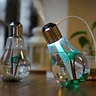 Увлажнитель воздуха 400 мл Лампочка. Увлажнитель воздуха ультразвуковой для дома, офиса, салона, фото 2