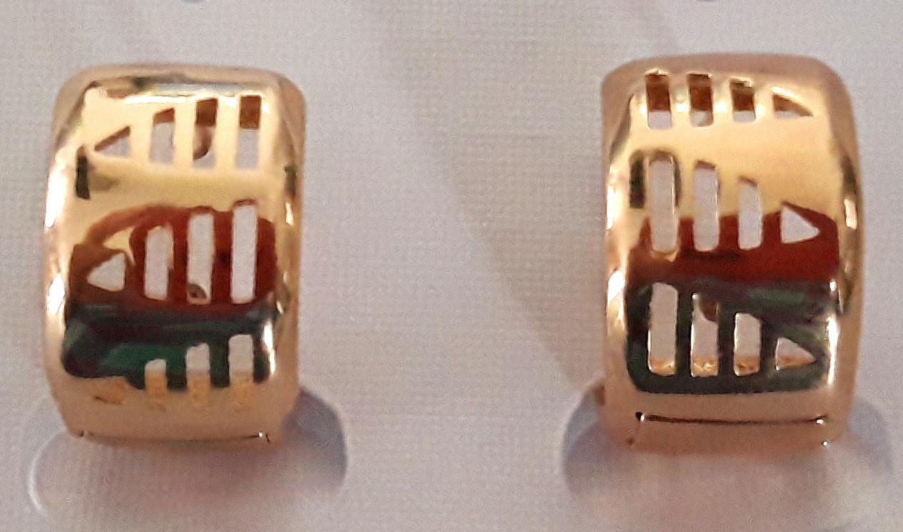 Серьги Xuping позолота широкие кольца 1,3х0,8см