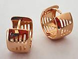Серьги Xuping позолота широкие кольца 1,3х0,8см, фото 2