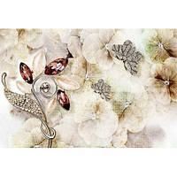 Фотообои Цветы гранж (10510)