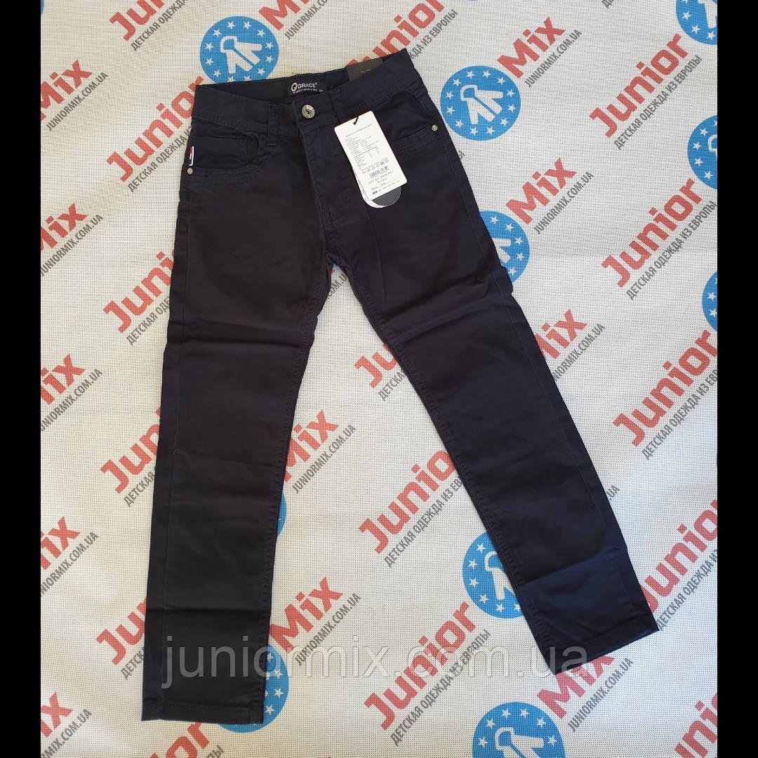 Оптом синие подростковые котоновые брюки для мальчиков  GRACE