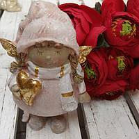 Розовый ангел - поликерамическая статуэтка, выс. 11 см., 150/130 (цена за 1 шт. + 20 гр.)