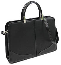 Женская деловая сумка, портфель из эко кожи Arwena черная