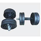 Гантелі набірні гранілітові 2х7 кг з гумовою ручкою (загальна вага 14 кг) розбірні для дому, фото 2