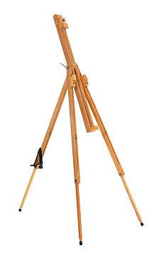Мольберт-тренога раскладной 185см,Высота холста до 110 см. Бук