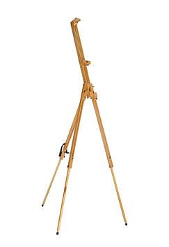 Мольберт-тренога двойной раскладной 185 см,Высота холста до 110 см. Бук