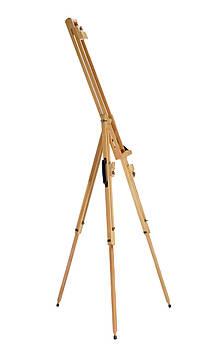 Мольберт-тренога двойной раскладной с ручкой для переноски 205 см. Высота холста до 115 см.