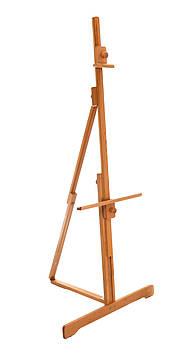 Мольберт студийный напольный раскладной Высота 205 см. Высота холста до 114 см. Бук