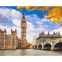 "Картина по номерам, холст на подрамнике - Городской пейзаж ""Осенний Лондон "" 40х50см, без коробки"