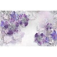 Фотообои  Сиреневые цветы из драгоценных камней (10515)