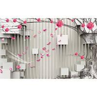 Фотообои 3Д Розы на дереве (10527)