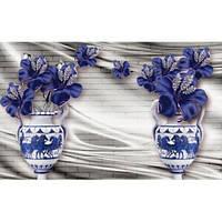 Фотообои  3д вазы синие лилии (10540)