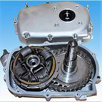 Понижающий редуктор 1/2 с центробежным сцеплением(вход 25мм,выход-22мм), фото 1