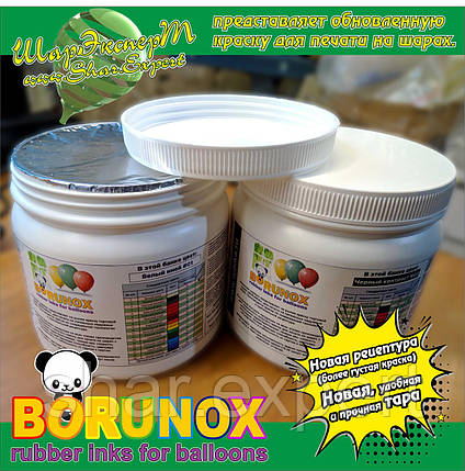 Концентрированная краска BORUNOX для печати на надувных шарах (металлик, перламутр), фото 2