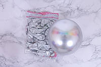 """Шарики воздушные хром серебро 10"""" (Китай), 50 штук"""