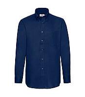 Мужская рубашка с длинным рукавом OxFord синяя 114-32