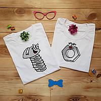 Печать на футболке (парные)