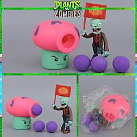 Растения против зомби | Plants vs Zombies Игровой набор №11 Гриб розовый (Растения стреляют шариками )