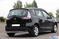 Renault Scenic III (13-15) защитная дуга защита заднего бампера на для Рено Сценик Renault Scenic III (13-15) d60х1,6мм