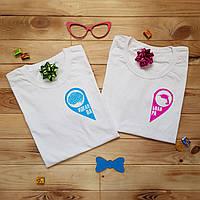 Печать на парных футболках