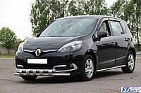 Кенгурятник Renault Scenic III (13-15) защита переднего бампера кенгурятники на для Рено Сценик Renault Scenic III (13-15) ус d60х1,6мм
