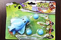 Растения против зомби | Plants vs Zombies Игровой набор №13 Самолет Голубой (Растения стреляют шариками)