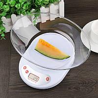 Точные лучшие настольные электронные кухонные весы с чашей на кухню для еды до 5кг на батарейках, кухонні ваги