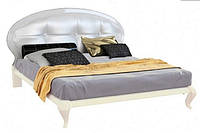 Кровать с мягким изголовьем Pionia / Пиония MiroMark 160х200 цв.белый
