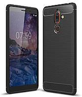 Чехол Carbon для Nokia 7 Plus / TA-1046 бампер оригинальный Black