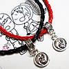 """Парные браслеты """"Инь Янь"""" для друзей, для влюбленных на шнурочках. Бижутерия."""