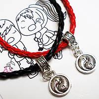 """Парные браслеты """"Инь Янь"""" для друзей, для влюбленных на шнурочках. Бижутерия., фото 1"""