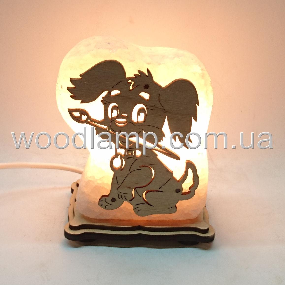 Соляной светильник собака  М2