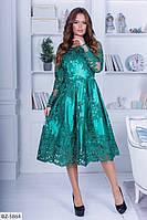 Очень красивое вечерне платье расшитая кружевная ткань арт 322