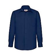 Мужская рубашка с длинным рукавом Poplin синяя 118-32