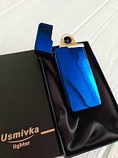 Электроимпульсная зажигалка USB.+ ваша гравировка! Круговой сенсор!, фото 3