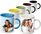 Чашка кольорова всередині і ручка, фото 8