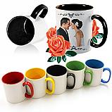 Чашка кольорова всередині і ручка, фото 9