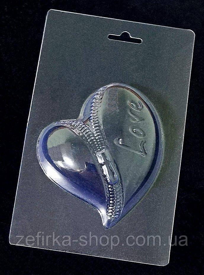 Пластиковая форма для шоколада Сердце большое