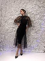 Нарядное женское платье из сетки, фото 3