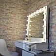 Гримерный стол Milan со смещенной тумбой. Ящики без ручек открываются от нажатия (КЛИК)., фото 4