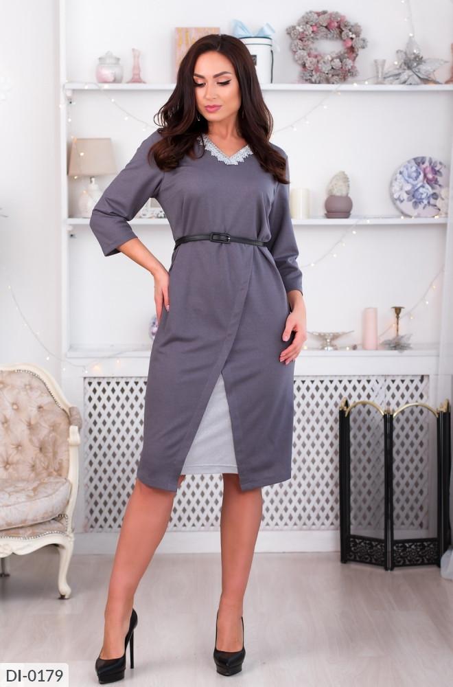 Женское модное платье батал