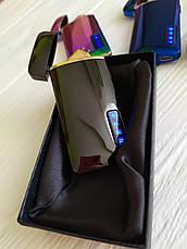 """Зажигалка аккумуляторная электроимпульсная перезаряжаемая портативная USB """"Шкала"""" качественная!, фото 3"""