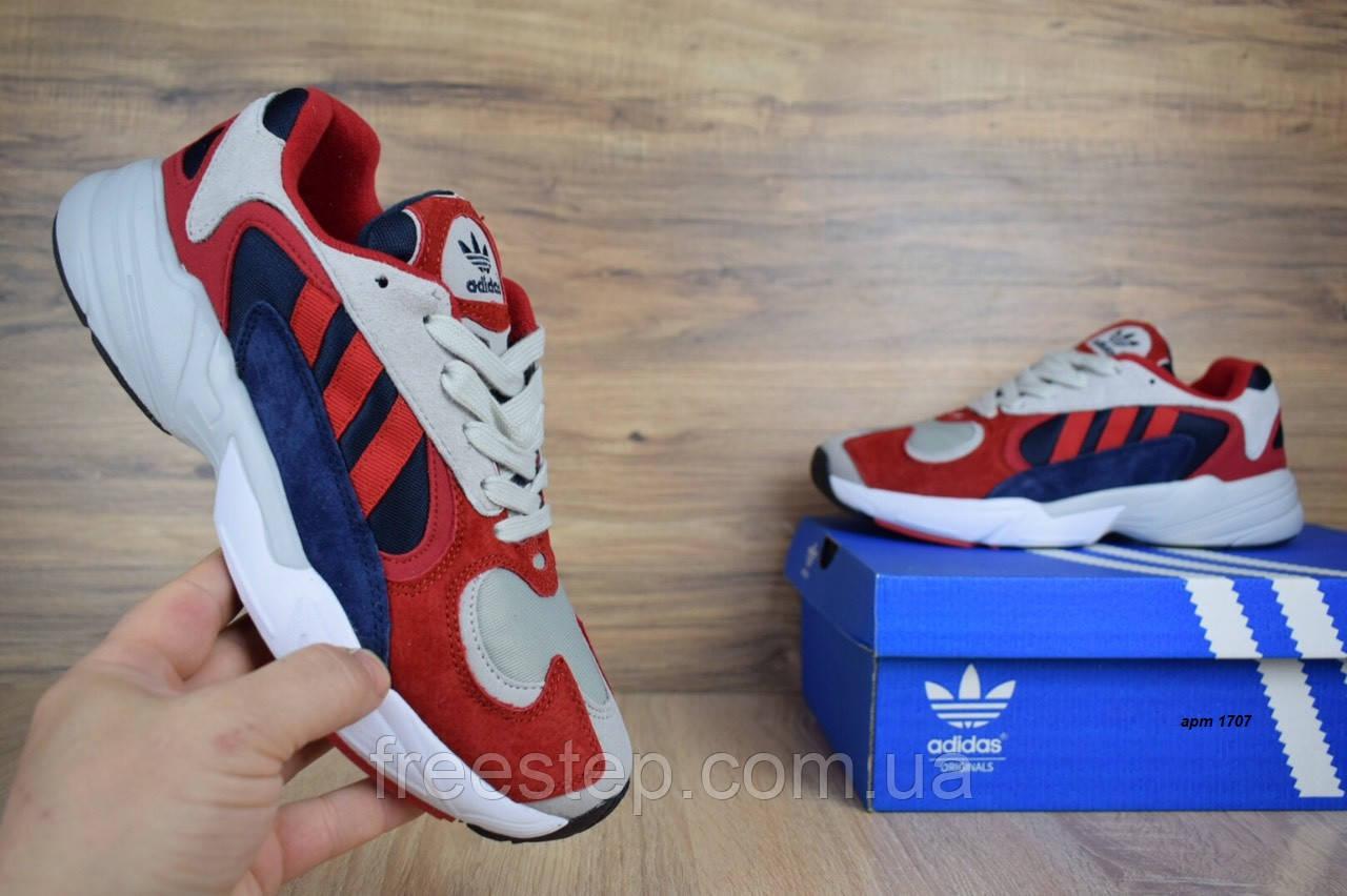 Кросівки в стилі Adidas Yung 1 червоні з синім