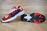 Кросівки в стилі Adidas Yung 1 червоні з синім, фото 5