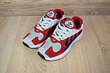 Кросівки в стилі Adidas Yung 1 червоні з синім, фото 7