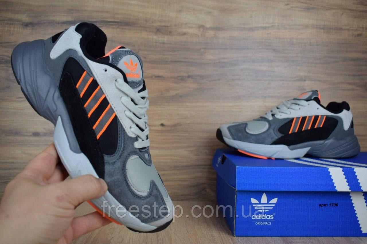 Кросівки в стилі Adidas Yung 1 сірі