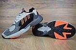 Кросівки в стилі Adidas Yung 1 сірі, фото 4