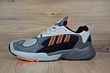 Кросівки в стилі Adidas Yung 1 сірі, фото 5