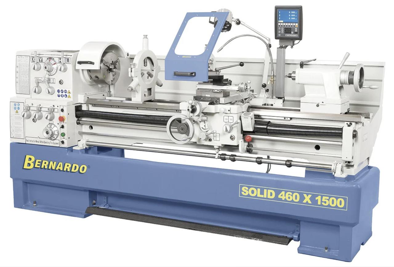 Токарно винторезный станок по металлу Solid 460x1500 BERNARDO Австрия