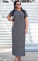 Платье длинное женское летнее вискоза больших батальных размеров 50-60 Турция
